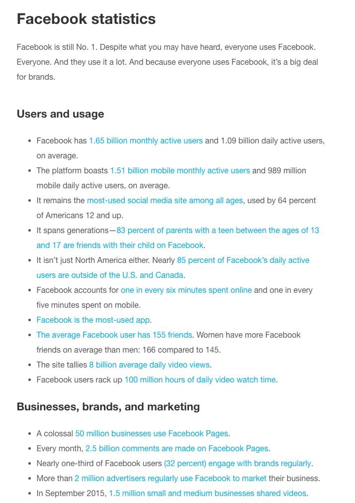 125 Essential Social Media Statistics Every Marketer Should Know in 2016