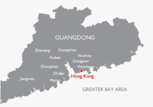 mappa hong kong e guangdong